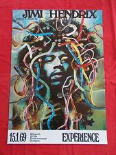 +++ 1969 JIMI Hendrix Promo Poster Kieser 15.1. Stuttgart Germany Pirate Print