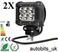 2x 18W Bright LED Car Bike Motorcycle Work Driving Fog Light Spot Beam Lamp New