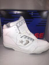 Vintage Mens Converse Cons 500  White/greyLeather High Top Basketball Sneakers