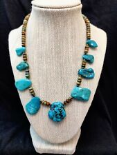 """Jay King Multi-Turquoise Bead Sterling Silver 18"""" Necklace NWT"""
