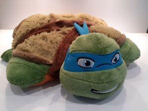 Teenage Mutant Ninja turtle Leonardo Pillow Pet by Nickelodian Blue bandana