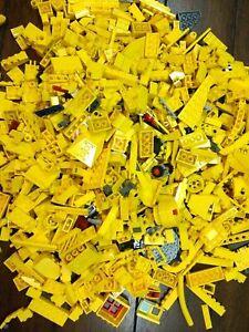 LEGO Yellow Bricks - 500g of Mixed Yellow Bricks Plates & Pieces Bundle Job Lot