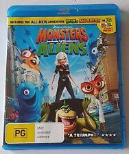 Monsters Vs Aliens Blu-ray, 2009 Like New (#BRD00078)