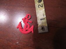 """SEW ON APPLIQUES RED ANCHORS 1.5"""" LOT OF 5"""