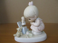 """Precious Moments #523755 """"Just Poppin' In To Say Halo!"""" 1994  ENESCO With Box"""
