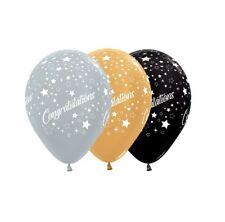 Party Supplies Graduation Congratulations Stars Gold Silver Black Balloons Pk10