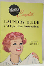 Vintage Sears Roebuck and Co  Laundry Guide Operating Instructions Kenmore
