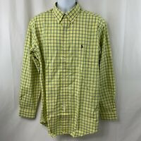 NWT POLO Ralph Lauren Mens Long Sleeve Shirt Classic Fit Yellow Green Size L