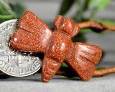 Carved Dragonfly Spirit Animal Totem Rock Gemstone Fetish Sandstone Figurine 848