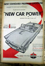 1st Large 1954 illustrated poster ad showing the new FORD THUNDERBIRD sports car
