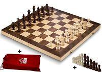 "GrowUpSmart Smart Tactics 16"" Folding Chess Set Made by FSC Certified Wood NEW"