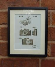USA Patent Drawing vintage CAMERA MECHANISM photography MOUNTED PRINT 1940 Gift