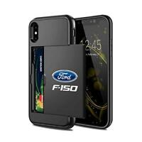 Ford F-150 iPhone X Black Shockproof with Credit Card Holder Cell Phone Case