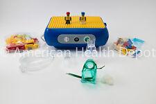 Child Pediatric Nebulizer Aerosol Compressor for Asthma COPD Lego Model MQ7000