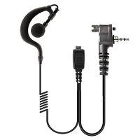Motorola Tetra Radio G Shape soft ear hook Earpiece with HQ PTT Microphone