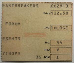 Tom Petty & The Heartbreakers Original Concert Ticket Forum Los Angeles 1981