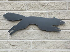 Running Fox Silhouette in Mild Steel, for Weather vanes or Features in Gates