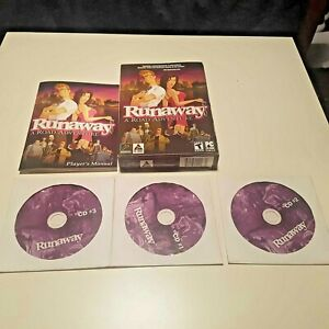 VINTAGE 2001 RUNAWAY GAME PC CD ROM RETRO BIG BOX COLLECTORS Point-and-click