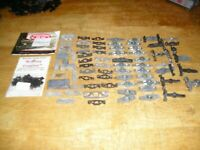 HO TRAIN LOT METFREG. 72 MISC FREIGHT CAR PARTS FOR PARTS/RESTORE