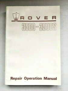 ROVER P6B 3500 3500S WORKSHOP MANUAL AKM 3621 GENUINE NEW NOS
