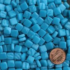 8mm Mosaic Glass Tiles - 2 Ounces About 87 Tiles - Phthalo Blue #2