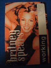 Britney Spears OOPS! I did it Again WORKING Backstage pass ORANGE Unused