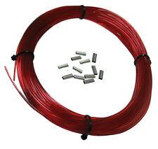 SPEARGUN MONO COIL 100ft 400# w/ 12 pcs CRIMPS, RED