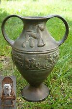 Bronzegefäß Persien 1,7 kg Henkelgefäß Doppelhenkel Persien Löwe Krieger Pferd