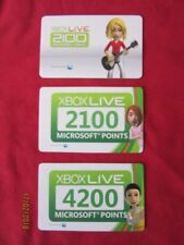 Xbox Live Microsoft Point Prepaid Gaming Cards