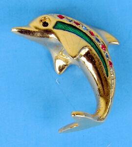 Delicate Miniature Decorative 31-o212 Metal Dolphin Item