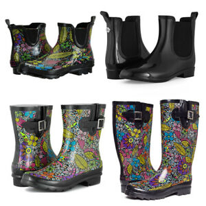 SheSole Women's Ladies Festival Wellies Garden Rain Wellington Boots Waterproof