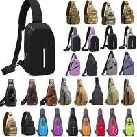 Men Women Sling Bag Backpack Crossbody Shoulder Chest Cycle Daily Travel Unisex