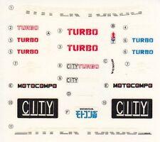 TAMIYA Decal 24030 1/24 Honda City Turbo