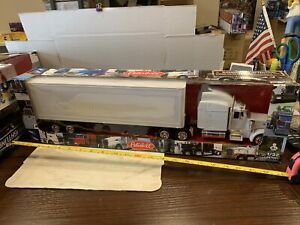 New Ray 1:32 Scale Peterbilt Model 379 Tractor Trailer White Great 4 Custom