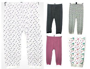 Ladies Womens Pyjama Bottoms 100% Cotton Summer  Lounge Pants White Black New