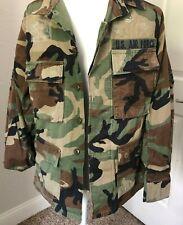 Mens S CAMO US AIR FORCE Shirt JACKET Hot Weather Woodland Rip Stop Tactical