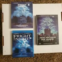 Fright Night 1 And 2 Complete Bluray Collection With OOP Rare Slipcover
