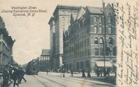 SYRACUSE NY – Washington Street looking East across Salina Street – udb – 1906