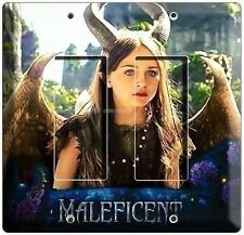 YOUNG MALEFICENT W HORNS WINGS DOUBLE DECORA LIGHT WALL PLATE GIRLS ROOM BEDROOM