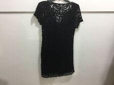 Bcbg ladies medium black gorgeous dress with slip