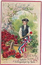 1909 George Washington's Birthday Sgd. Veenfliet Emb. Patriotic Postcard #51766