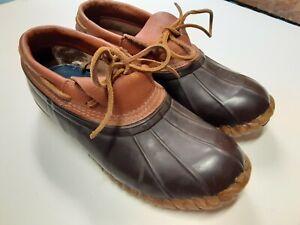 Cabela's Duck Boots Waterproof Leather Rubber Steel Shank Rain Shoe Mens Size 12
