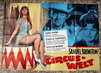 JOHN WAYNE, CLAUDIA CARDINALE *CIRCUS-WELT - A0-Kinoposter EA  Ger 2-Sheet 1964
