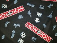 CUSTOM - HASBRO MONOPLOY MONEY PIECE GAME ROOM BLACK HAND TOWEL SET 2