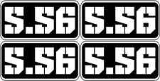 """4 - 3""""x1.5"""" 5.56 Ammo 556 Can Decal Molon Labe Bullet Vinyl Sticker 223 RCTNGL"""