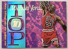 MICHAEL JORDAN 1995-96 NBA Hoops All-Time Rookie Team Top 10 Insert #AR7