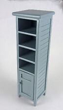 Dollhouse Miniature Gray Bathroom Linen Closet Cuboard, CLA10709