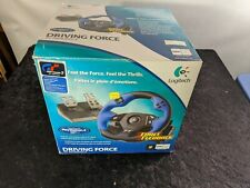 Logitech Driving Force Racing Steering Wheel PS2 PlayStation 2 USB Barely Used