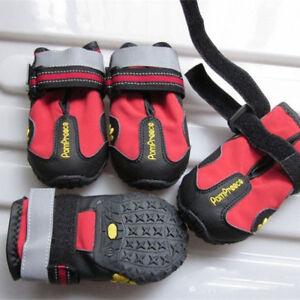 KQ_ 4Pcs Waterproof Pet Dog Shoes Anti-Slip Comfortable Reflective Boots Efficie