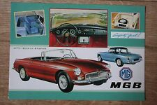MG MGB Roadster Car Postcard with car data on reverse.